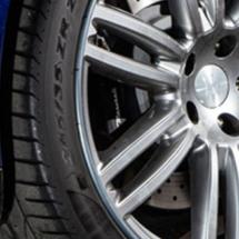 Close up of a Maserati alloy wheel rim AlloyGators