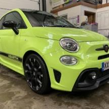 Green Fiat - Black AlloyGators - AWS SMART REPAIRS 1