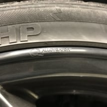 Close Up Of Black AlloyGator Wheel Protector On Alloy Wheel