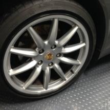 Silver Porsche Alloy Wheel With Black AlloyGator Wheel Protector