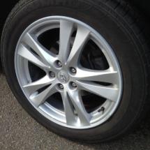 Hyundai With Silver AlloyGator Alloy Wheel Protector