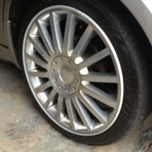 Close Up Of Ford With Silver Alloy Wheels & Silver AlloyGator Alloy Wheel Protector