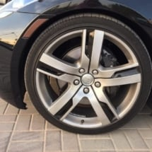 Black Fisker With Silver Alloy Wheels And Black AlloyGator Wheel Protectors