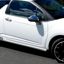 Side view of White Citroen with White AlloyGators