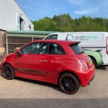 Red Abarth 595 with Red AlloyGators