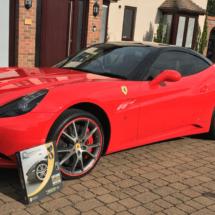 Red Ferrari with Red AlloyGators