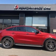 Red Mercedes with Silver AlloyGators