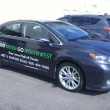 Black Lexus with Green AlloyGators