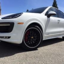 White Porsche with White AlloyGators