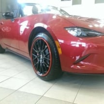 Red Mazda with Red AlloyGators