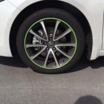 White Lexus with Green AlloyGators