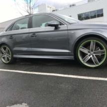 Graphite Audi with Green AlloyGators