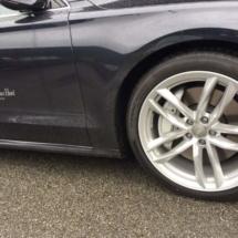 Black Audi with Silver AlloyGators