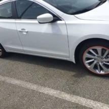 White Mercedes with Orange AlloyGators