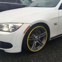White BMW with Yellow AlloyGators