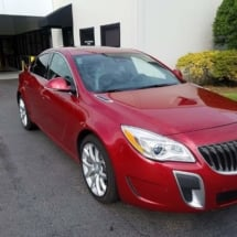 Red Buick with Black AlloyGators