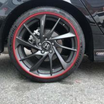 Black Honda with Red AlloyGators