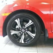 Red Honda with Black AlloyGators