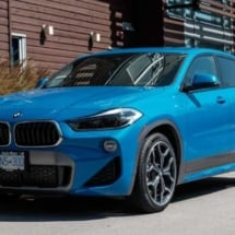 Blue BMW with Silver AlloyGators