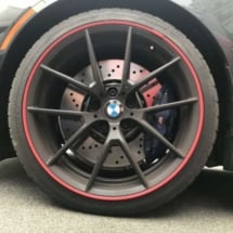Black BMW with Red AlloyGators