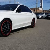 White Mercedes with Red AlloyGators