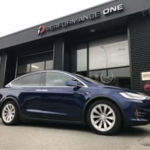 Blue Tesla with Silver AlloyGators