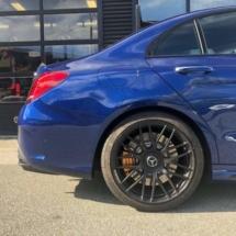 Blue Mercedes with Black AlloyGators
