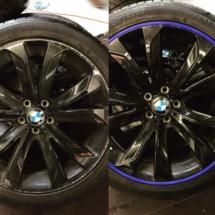 BMW Alloy Wheel with Blue AlloyGators