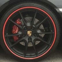 Black Porsche with Red AlloyGators