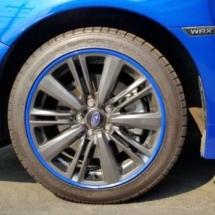 Blue Subaru with Blue AlloyGators