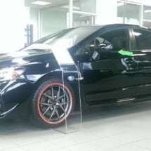 Black Subaru with Red AlloyGators