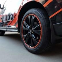 Black Nissan with Orange AlloyGators