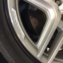 Mercedes Alloy wheel with Black AlloyGators
