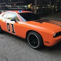 Orange Dodge with White AlloyGators