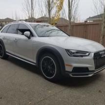 White Audi with White AlloyGators