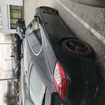 Black Mercedes with Red AlloyGators