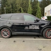 Black Hyundai with Black AlloyGators