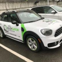 White Mini with Green AlloyGators
