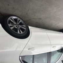 White Mercedes with Silver AlloyGators
