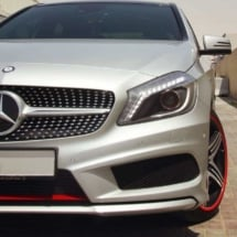 Silver Mercedes with Red AlloyGators
